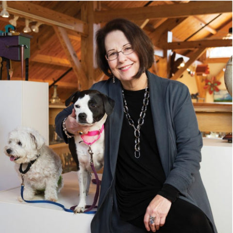 Judie Raiford with Gallery dogs
