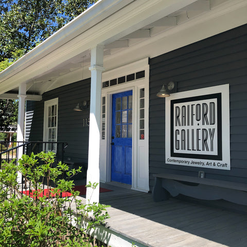 exterior view of Raiford Gallery front porch