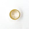 over top view of 14k Gold Wide Hammered Band by Judie Raiford