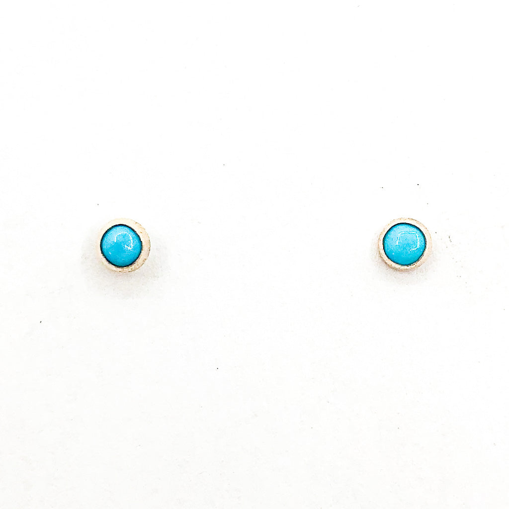 4mm Turquoise Studs by Judie Raiford