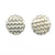 sterling silver Corrugated Series Disc Earrings by Judie Raiford