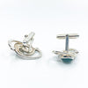Sterling Classic Cuff Links with Jade