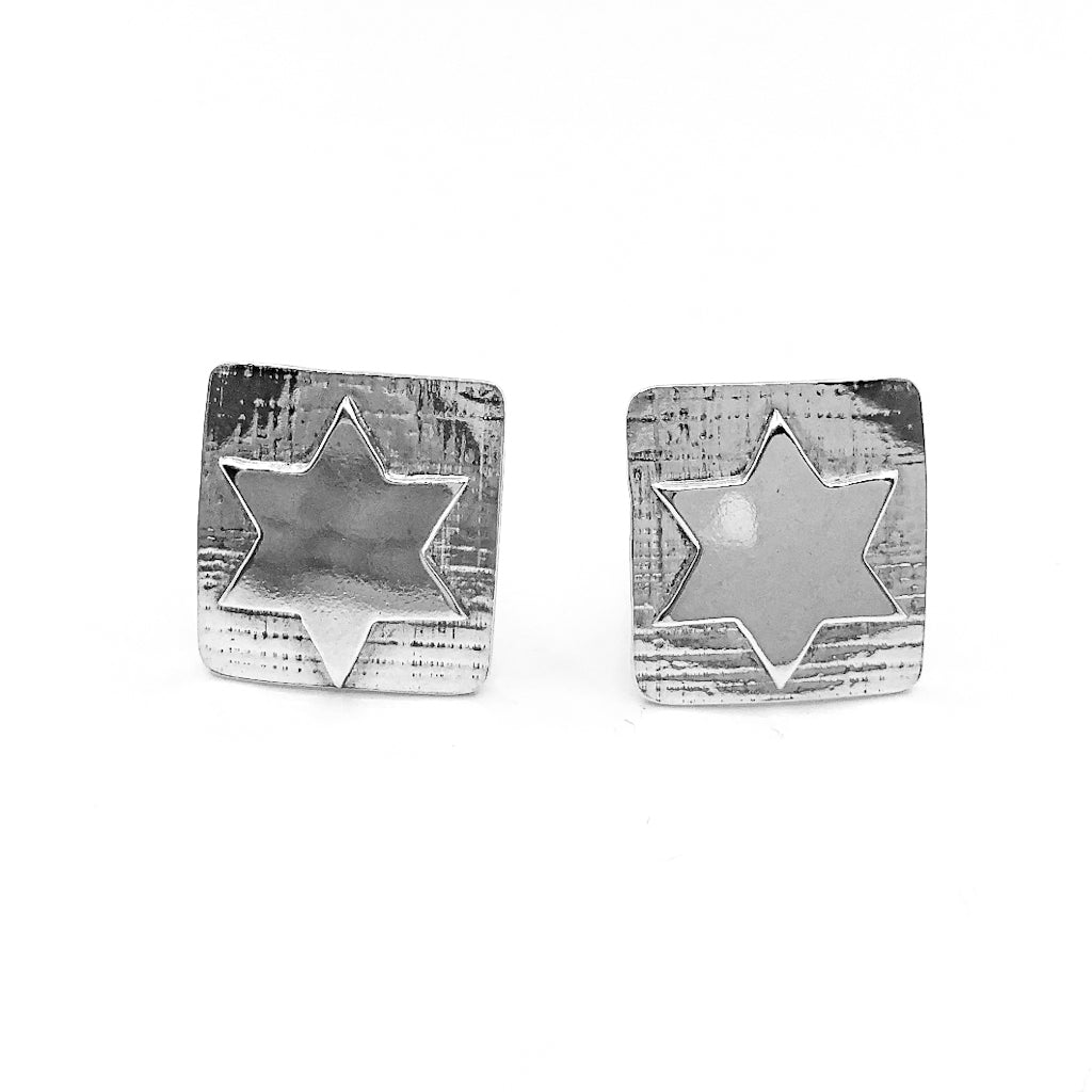 Sterling Star of David Cuff Links