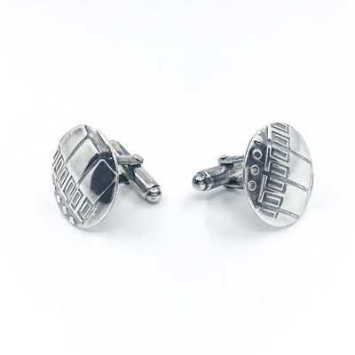 Sterling Computer Paper Cuff Links