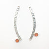 Sterling Silver Long Arched Earrings with Citrine by Judie Raiford