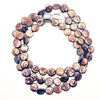 Tripled Flat lay of Chocolate Coin Pearl Necklace by Judie Raiford