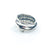 size 10.75 Men's Sterling Flattened Random Theory Ring by Judie Raiford