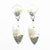 Sterling and 14k Shield Double Textured Earrings by Judie Raiford