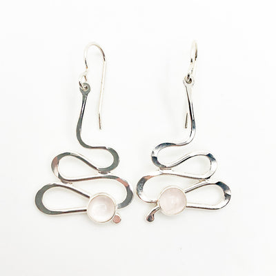 Small Sterling Touch of Romance Earrings with Moonstone by Judie Raiford