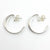 over top view of Sterling Looped End Earrings by Judie Raiford