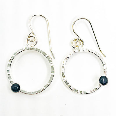 Sterling Pluto Earrings with Black Onyx by Judie Raiford