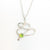 detail of pendant view of sterling silver Touch of Romance Necklace with Peridot by Judie Raiford