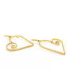 14k Gold Filled Curly Jane Heart Earrings