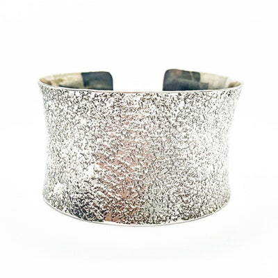 "1.5"" Oxidized Sterling Wide Anticlastic Cuff by Judie Raiford"