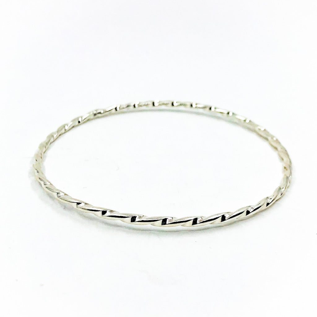 Sterling Double Twist Bangle by Judie Raiford