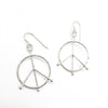 sterling silver Small Hammered Peace Sign Earrings by Judie Raiford