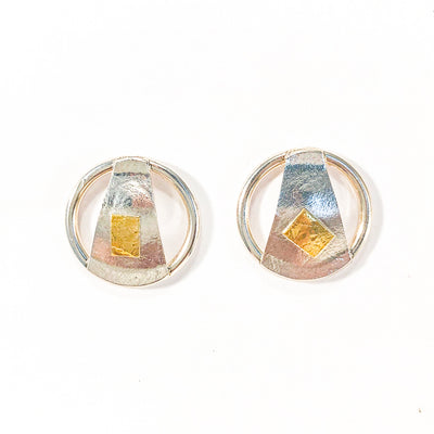 Round Lawa Earrings by Judie Raiford