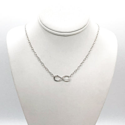 sterling silver Infinity Maggie Necklace by Judie Raiford on mannequin bust