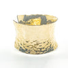 right side view of 14k Gold Filled Ball Pein Anticlastic Cuff by Judie Raiford