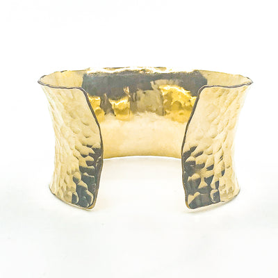 back view of 14k Gold Filled Ball Pein Anticlastic Cuff by Judie Raiford