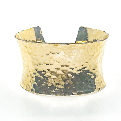 14k Gold Filled Ball Pein Anticlastic Cuff by Judie Raiford