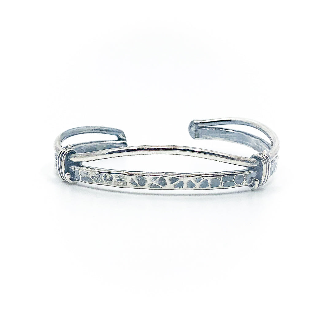 Men's Oxidized Sterling Craig Cuff by Judie Raiford