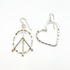 sterling silver Peace and Love Earrings by Judie Raiford