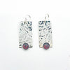Bubble Up Earrings with Garnet by Judie Raiford