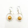Sterling Not Naught Round Pearl Earrings with Champagne Pearls by Judie Raiford