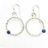 Sterling Pluto Earrings with Lapis by Judie Raiford