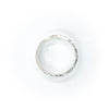 over top view of size 11.25 Men's Sterling Mom's Hammer Cross Hatch Textured Ring by Judie Raiford