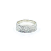 size 11.25 Men's Sterling Mom's Hammer Cross Hatch Textured Ring by Judie Raiford