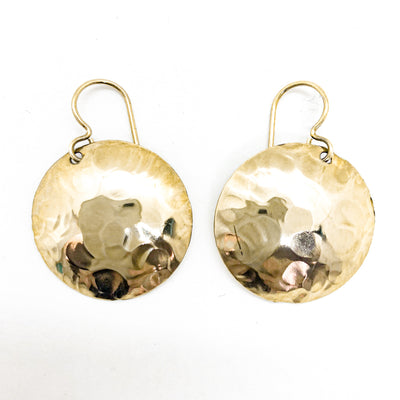 14k Gold Filled Domed Ball Pein Earrings by Judie Raiford