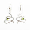 Sterling Touch of Romance Earrings with Peridot by Judie Raiford