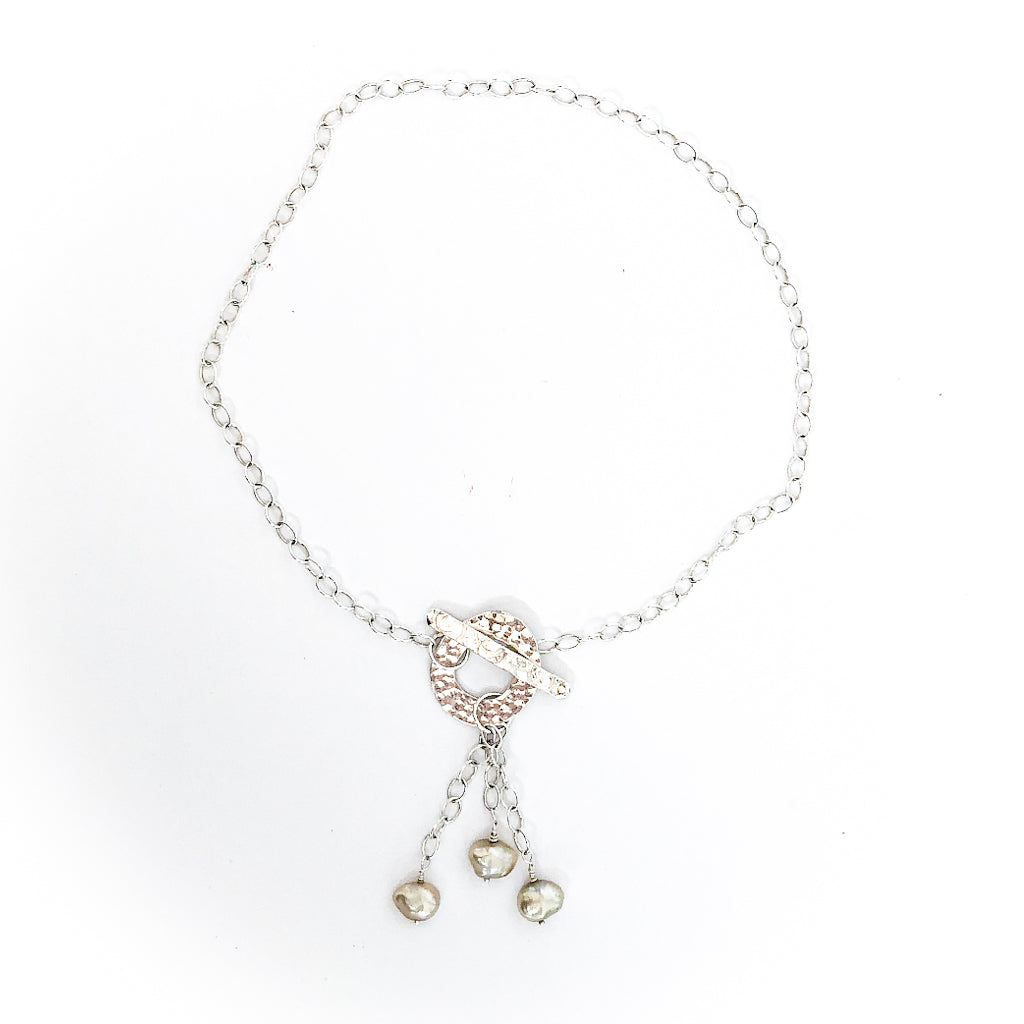 Dale 3-Pearl Lariat Necklace by Judie Raiford