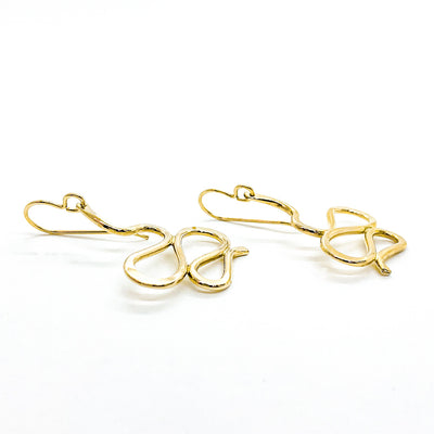 side angle view of 14k Gold Filled Touch of Romance Earrings by Judie Raiford