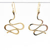 14k Gold Filled Touch of Romance Earrings by Judie Raiford hanging on a wire