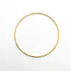 over top view of 14k Gold Filled Bubble Texture Bangle by Judie Raiford