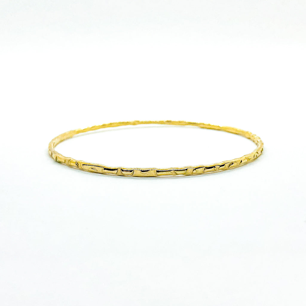 14k Gold Filled Bubble Texture Bangle by Judie Raiford