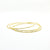 14k Gold Filled Skinny 3-Piece Bangle Set by Judie Raiford