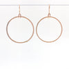 14k Gold Filled Mom's Hammer Flat Orbit Earrings by Judie Raiford hanging on wire