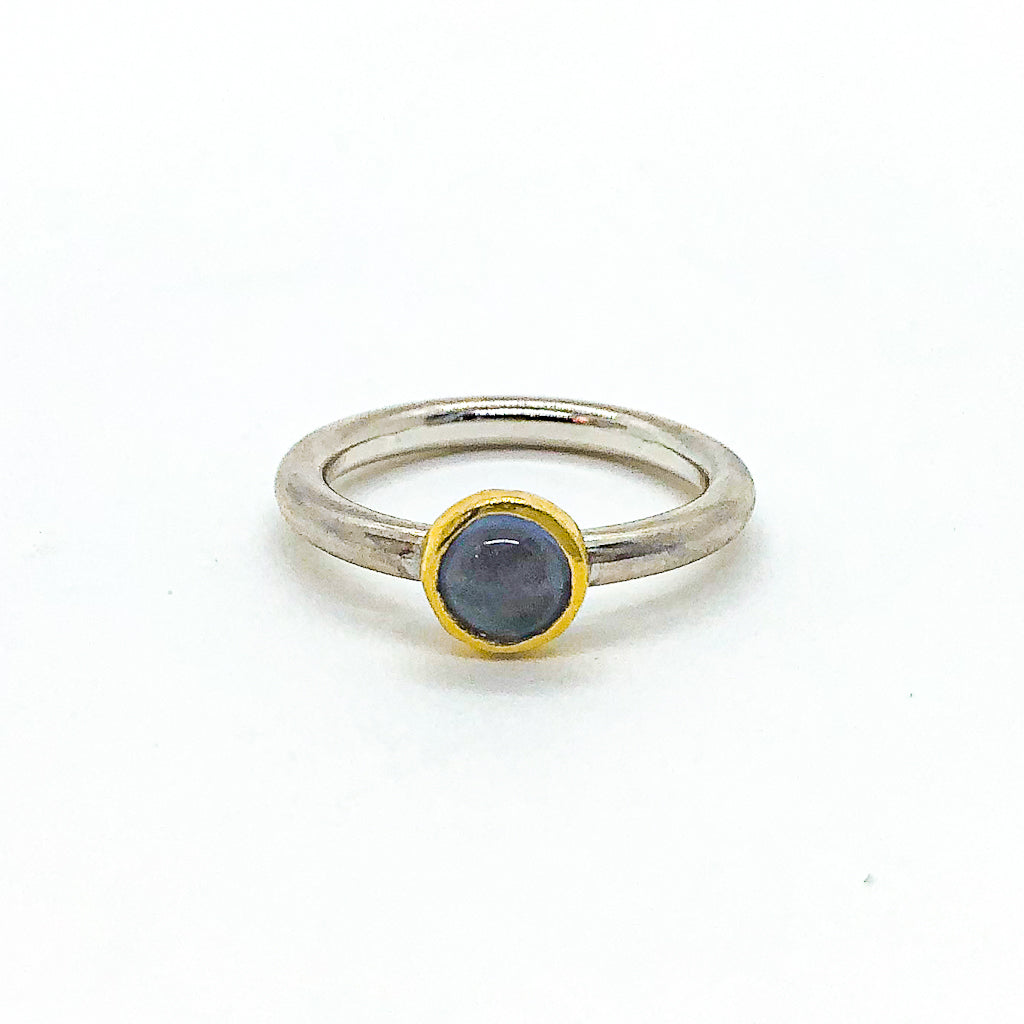 size 6.5 Round Iolite Ring by Judie Raiford