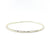 Sterling Ball Pein Bangle by Judie Raiford