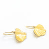 side angle view of 14k Gold Filled Mini Ginkgo Earrings by Judie Raiford