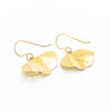 back view of 14k Gold Filled Mini Ginkgo Earrings by Judie Raiford