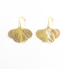 14k Gold Filled Mini Ginkgo Earrings by Judie Raiford
