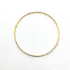 over top view of 14k Gold Filled Cross Pein Bangle by Judie Raiford