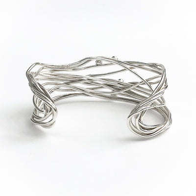 back view of Sterling Random Theory Bracelet by Judie Raiford