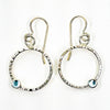 Sterling Pluto Earrings with Blue Topaz by Judie Raiford