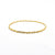 14k Gold Filled Single Twist Bangle by Judie Raiford